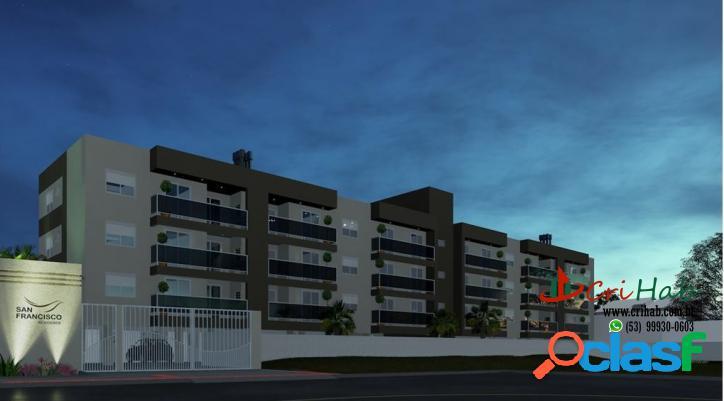Apartamentos - 01 dormitório - san francisco residence - pelotas rs