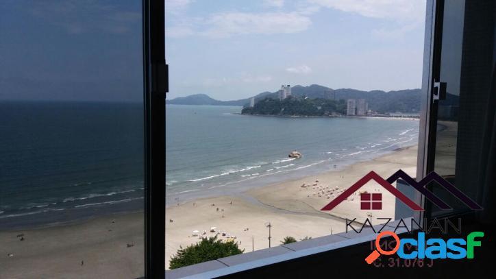 Apartamento com vista panorâmica para o mar em santos
