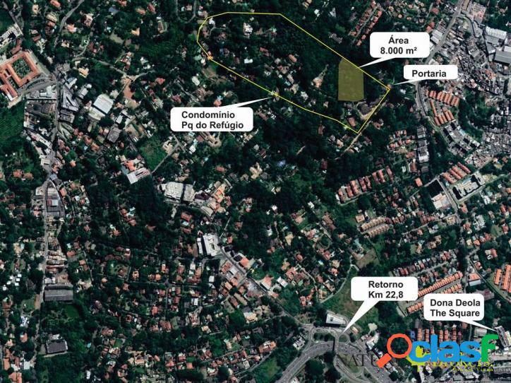 Cond. pq do refúgio - área 8 mil m² p/ incorporar!