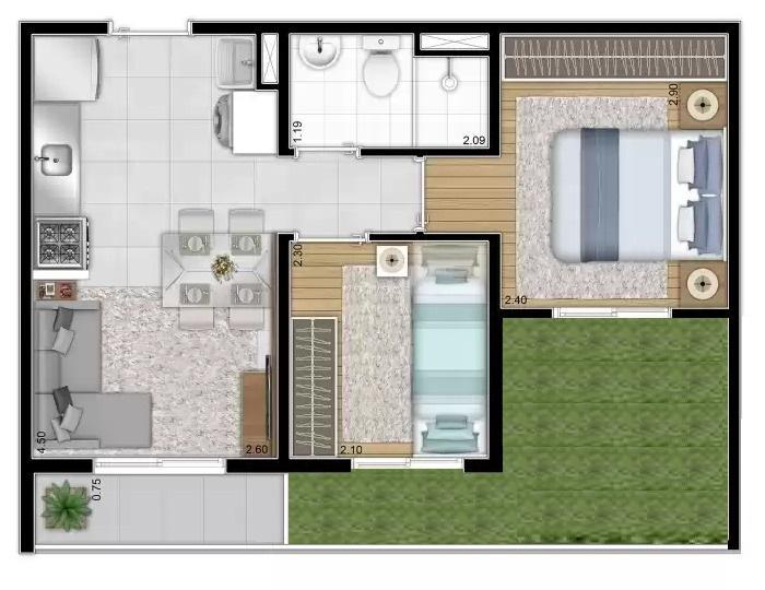 Apartamentos caixa moóca sp com quinta 43 metros -m.casa