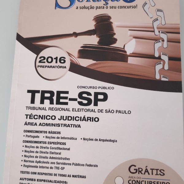 Apostila solução concurso tre sp
