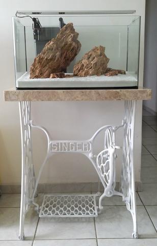 Aquário vidro curvo ocean tech