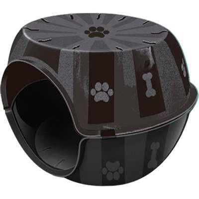 Casinha para gato ou cão de pequeno porte em formato de