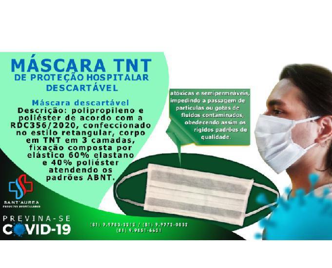 Mascaras de proteção facial hospitalar descartavel