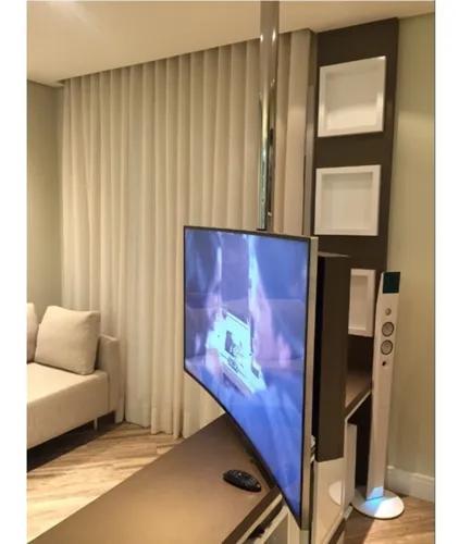 Suporte de tv teto ao móvel inox giratório sob encomenda
