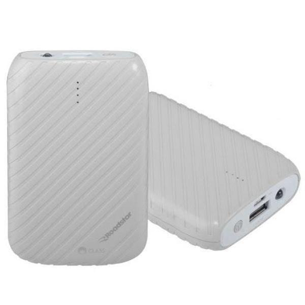 Carregador portátil power bank roadstar rs-13pb de 7.800mah