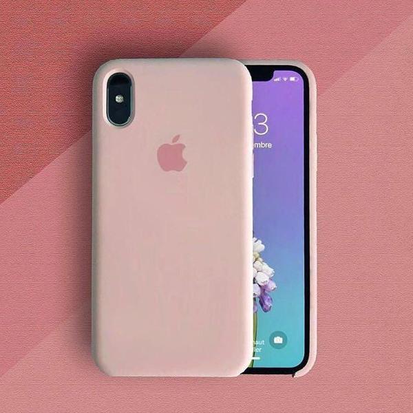 Case capa rosa areia apple para iphone x, xs e xs max