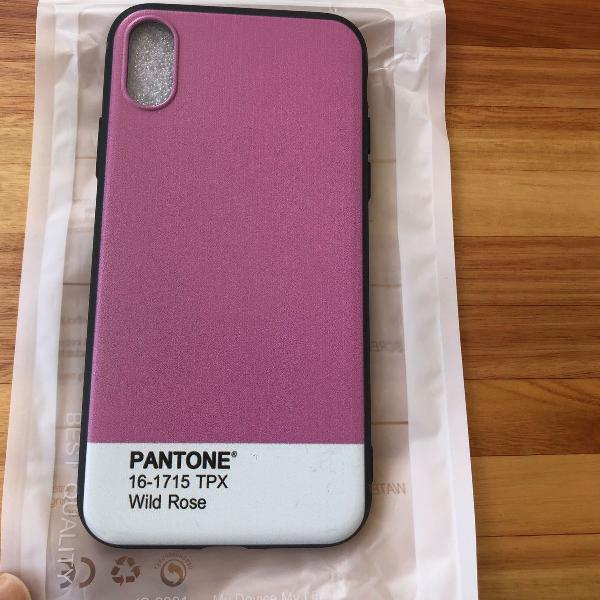 Case iphone x pantone rosa