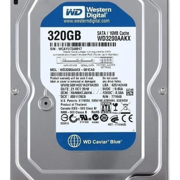 Hd 320gb western digital
