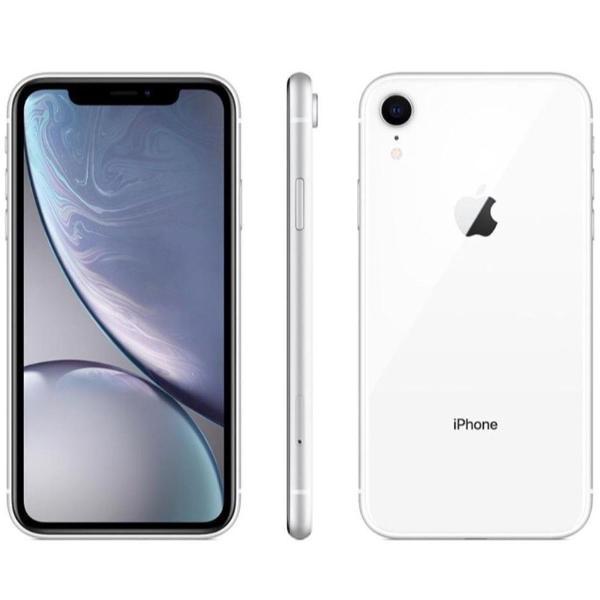 Iphone xr apple branco 64gb, tela retina lcd de 6,1, ios 12,