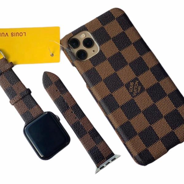 Kit case e pulseira louis vuitton monogram quadrado
