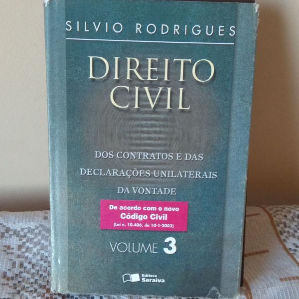 Livro direito civil volume 3 silvio rodrigues
