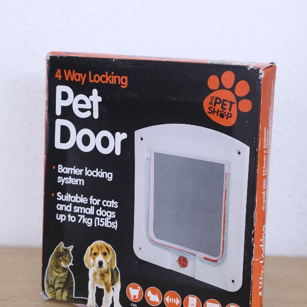Porta de passagem portinha pet p/ gato cachorro 4 em 1