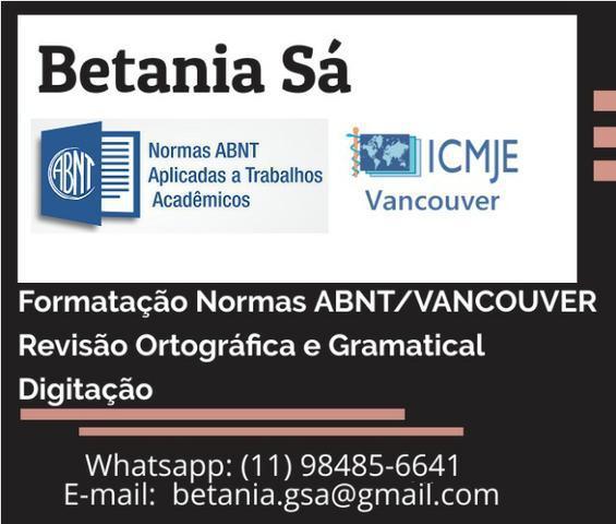 Formatação normas abnt / vancouver, revisão ortográfica