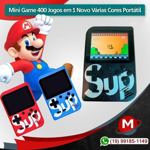 Mini game 400 jogos em 1 novo várias cores portátil