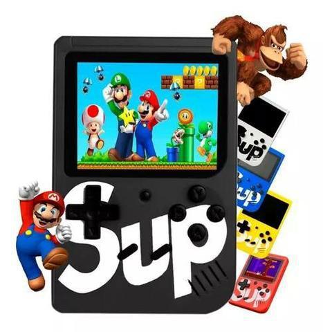 Mini game portátil 400 jogos super console controle ret