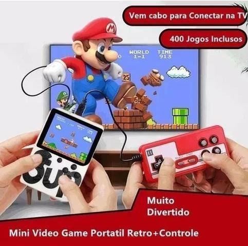 Minigame video game portátil console nintendo 8bit 400 jogo