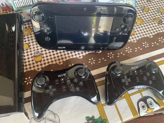 Nintendo wii u - black 32 gb - 02 controles pro - vários