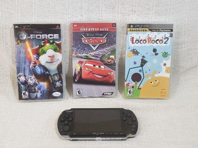 Psp sony + 3 jogos + case