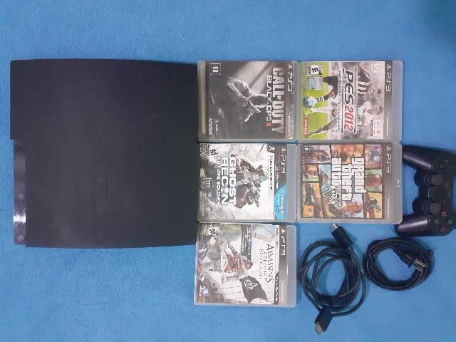 Ps3 super slim 150gb seminovo com 9 jogos