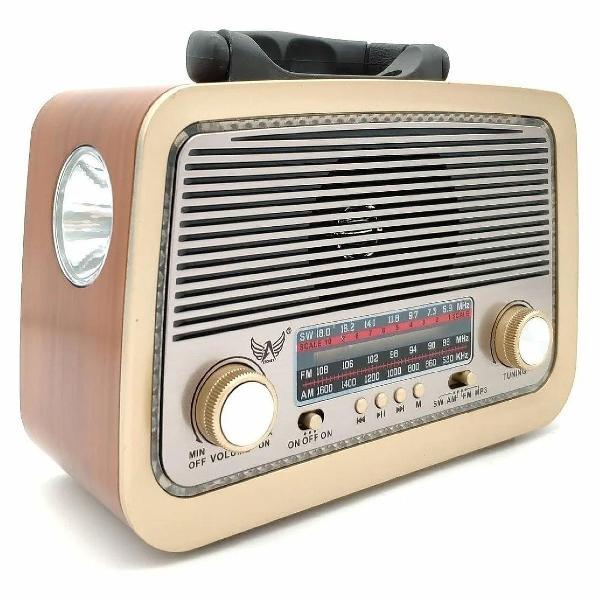 Radio retro com bluetooth usb - novo na caixa