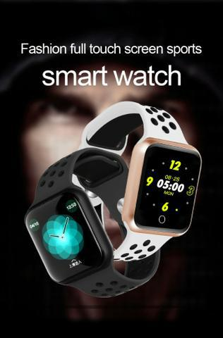 Smartwatch f9 bluetooth full touch p.arterial monitor freq.