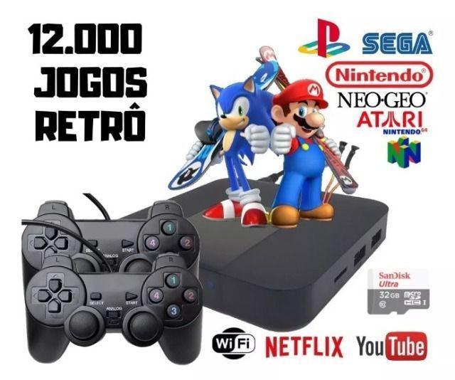 Video game portatil 12000 jogos 12x s/ juros nos cartões