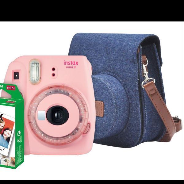 Câmera polaroid instax mini 9 rosa