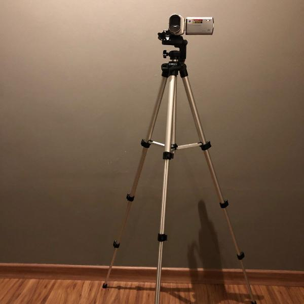 Filmadora digital sony dcr-sx40 + tripé