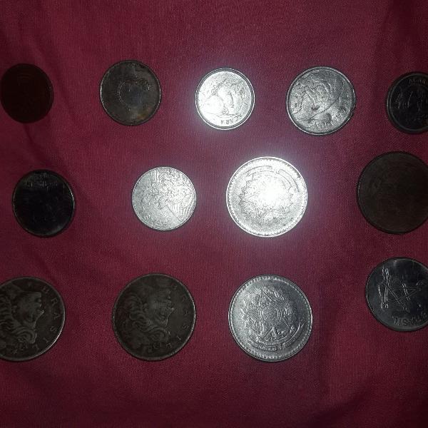 Moedas antigas (cruzeiros,cent,centavo