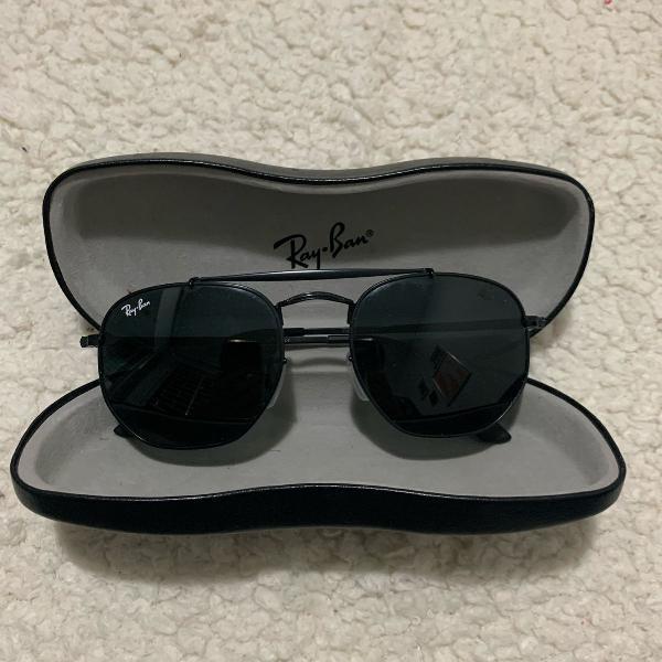 Oculos ray ban marshal hexagonal preto