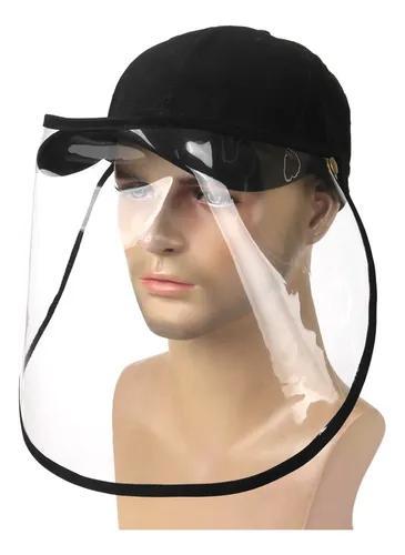 Boné com viseira transparente proteção uv
