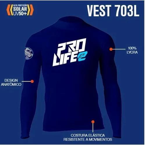 Camisa lycra prolife manga longa - azul