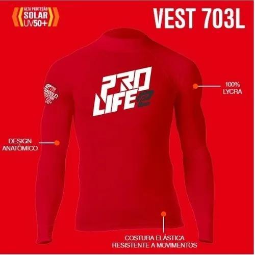 Camisa lycra prolife manga longa - vermelho