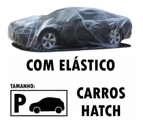 Capa transparente com elástico cobrir carros hatch pequena