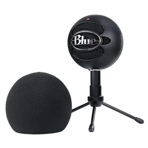 Microfone usb blue snowball mac e pc + espuma wind shield