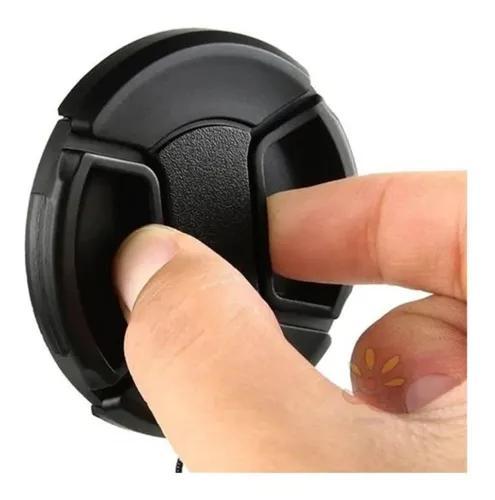 Tampa lente frontal objetiva 58mm diâmetro - canon nikon