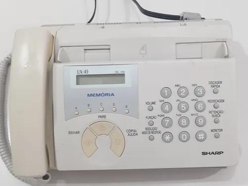 Aparelho fax sharp ux-45 (quase novo) + bobina de papel fax