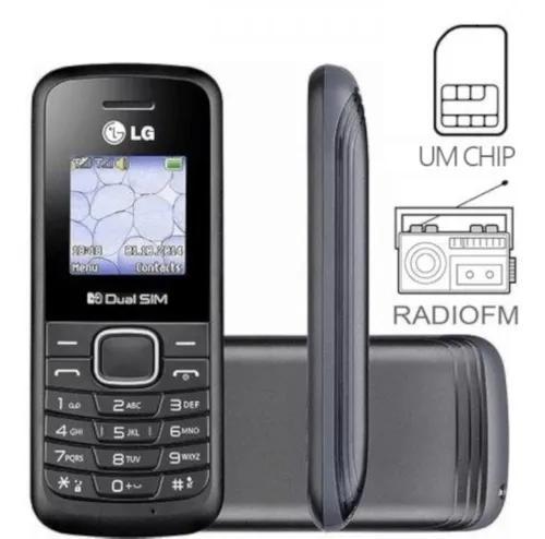 Celular lg b-220 dual sim original radio fm lanterna