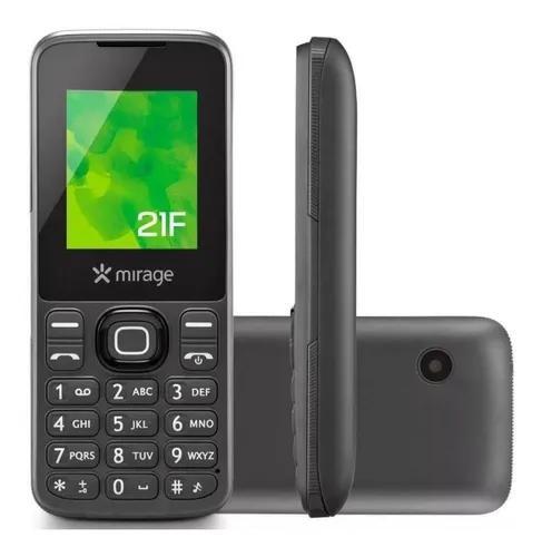 Celular mirage 21f dual chip cam vga mp3 fm cinza - 1103