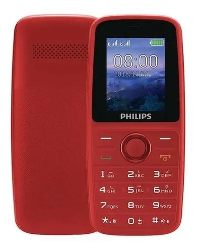 Celular philips e108 dual sim rádio fm menu inglês/