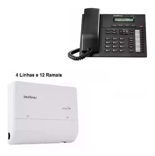 Central pabx modulare mais 4l 12r + telefone terminal ti830i