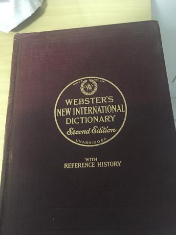 Dictionary internacional - webster - 2a. edição