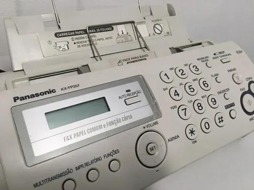Fax panasonic kx-fp207br por:lojas eletrobom