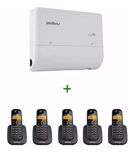 Kit pabx conecta + 2/8 intelbras + 5 ramais s