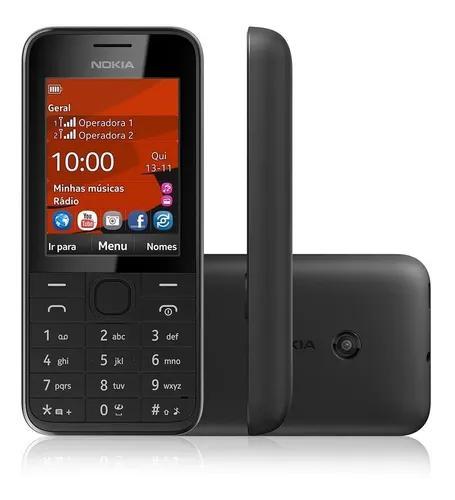 Nokia 208,02chip,3,5g, desblq novo nacaixa rádio fone