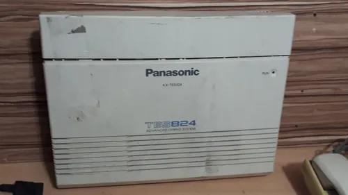 Pabx panasonic kx-tes824 3 linhas/8 ramais e ks kx-t 7030