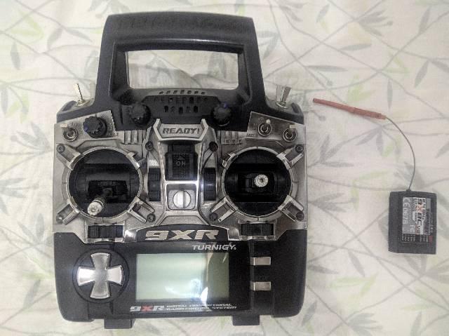 Rádio controle aeromodelo turnigy 9xr