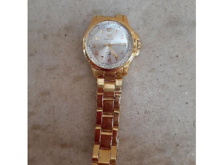 Relógio de pulso de quartzo análogo de aço inoxidável