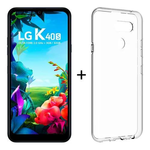 Smartphone lg k40s 6.1'' 32gb 4g 3gb ram 13+5mp preto nov nf